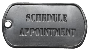 dog tag schedule appointment button